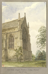 East End, Chapel, Wadham College, Oxford May 31st 1849